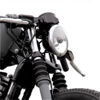 Roland Sands Designs P02072001B Cafe Gauge & Headlight Relocator Mount Black Anodized XL'95up exc 11up XL1200C/V/X