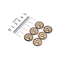 Roland Sands Designs P02082067 Logo Badge Kit Brass (Pk6)