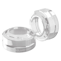 Roland Sands Designs P02082086CH Misano 39mm Fork Dust Caps Chrome