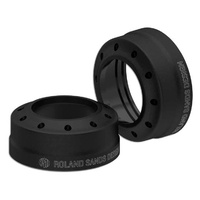 Roland Sands Designs P02082089SMB Tracker 41mm Fork Dust Caps Black Ops