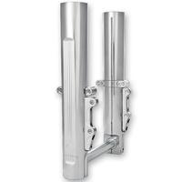 Performance Machine P02082096CH Daul Disc 49mm Fork Leg Set Chrome FLH'14up