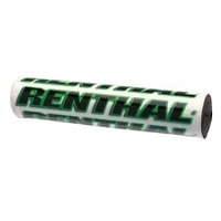 "Renthal P267 SX/MX 10"" Handlebar Crossbrace Bar Pad White/Green"