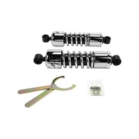 "Progressive Suspension 412-4037C 412 Series 11"" Shocks Dyna FXD 91-up FLD 12-up Chrome"