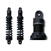 "Progressive Suspension 490-1006 490 Series 12"" Heavy Duty Rear Shock Absorbers Black for Touring 80-Up"