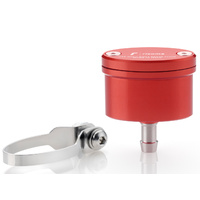 Rizoma Next Brake/Clutch Fluid Reservoir 20ml Red for BMW/Ducati/Honda/Kawasaki/KTM/Suzuki/Triumph/Yamaha