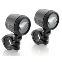 Rizoma LED Fog Auxiliary Lights Black for BMW R nineT Pure/Racer/Urban G/S/Scrambler 14-20