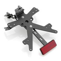 Rizoma Fox License Plate Support Black for Yamaha MT-09/FZ-09 13-16/MT-09 Tracer/FJ-09 15-20/XSR900 16-20