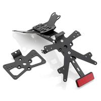 Rizoma Fox License Plate Support Black for Ducati Monster 821 14-17