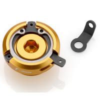 Rizoma Engine Oil Filler Cap Gold for Ducati Most Models/Honda Models/Kawasaki Some Models/Triumph Street Triple/R/RX