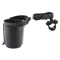 RAM Mounts Level Cup 16oz Drink Holder w/Handlebar U-Bolt Base & Medium Arm