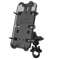 RAM Mounts Quick-Grip XL Phone Mount w/Handlebar U-Bolt Base & Short Arm