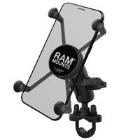 RAM Mounts X-Grip Large Phone Mount w/Handlebar U-Bolt Base & Short Arm
