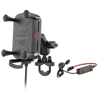 RAM Mounts Tough-Charge Waterproof Wireless Charging Motorcycle Mount w/Short Arm