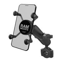 RAM Mounts X-Grip Phone Mount w/RAM Torque Medium Rail Base & Medium Arm