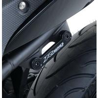 R&G Racing Rear Footrest Blanking Plates Black for Yamaha R25 14-20/R3 15-20
