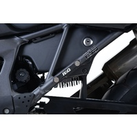 R&G Racing Rear Footrest Blanking Plates Black for Honda Africa Twin CRF1000L 16-20