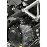 R&G Racing Aero Style Frame Crash Protectors Black for Aprilia Shiver 08-16/Dorsoduro 750/Shiver 900 18-20/Caponord 1200 13-18