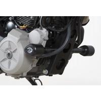 R&G Racing Aero Style Frame Crash Protectors Black for Husqvarna TR650 STRADA 12-13
