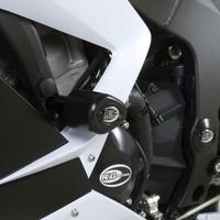 R&G Racing Aero Style Frame Crash Protectors Black for Kawasaki ZX6R 636 13-18
