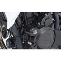 R&G Racing Aero Style Front Crash Protectors Black for Honda CB500X 13-20/CB400X 19-20/CB500F 13-20