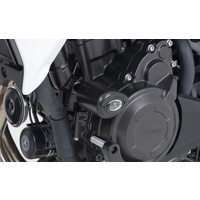 R&G Racing Aero Style Front Crash Protectors Black for Honda CB500X 13-20/CB400X 19-20/CB500F 13-20