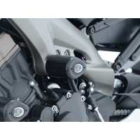 R&G Racing Aero Style Mid Crash Protectors Black for Yamaha MT-09 13-20/MT-09 TRACER 15-18/MT-09 SP 18-19/XSR900 16-20/Tracer 900 GT 18-20