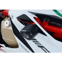 R&G Racing Aero Style Frame Crash Protectors Black for MV Agusta F4RC 15-18
