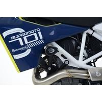 R&G Racing Aero Style Frame Crash Protectors Black for Husqvarna 701 Enduro/Supermoto 16-20/KTM SMC-R 690 2019