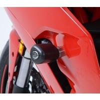 R&G Racing Aero Style Frame Crash Protectors Black for Ducati Supersport/Supersport S 17-20