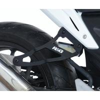 R&G Racing Exhaust Hanger (Single) Black for Honda CB500F 13-15/CBR250R 11-15/CBR500R 13-15/WP Bikes SP 50/125