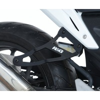 R&G Racing Exhaust Hanger (Single) Black for Honda CB500F 13-15/CBR250R 11-15/CBR500R 13-15/WP Bikes SP 50/125