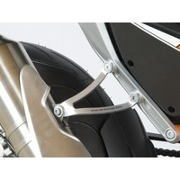R&G Racing Exhaust Hanger w/Footrest Blanking Plate (Single) Silver for KTM 690 Duke IIII 12-14/690 Duke R 14-18