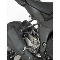 R&G Racing Exhaust Hangers (Pair) Black for Kawasaki Z1000 10-18/Z1000R 17-20/Z1000SX (Ninja 1000) 11-13