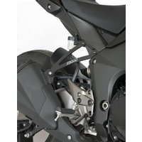 R&G Racing Exhaust Hangers (Pair) Black for Kawasaki Z1000 10-18/Z1000R 17-20/Z1000SX (Ninja 1000) 11-13