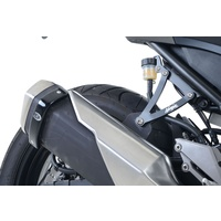 R&G Racing Exhaust Hangers (Pair) Black for Kawasaki Ninja 250 13-17/Ninja 300 12-20/Z250 13-18