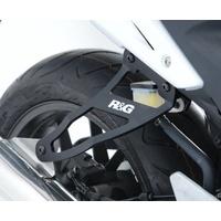 R&G Racing Exhaust Hangers w/Footrest Blanking Plates (Pair) Black for Honda CB500F 13-15/CB500X 13-16/CBR500R 13-15