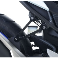 R&G Racing Exhaust Hanger w/Footrest Blanking Plate (Kit) Black for Honda CB500F 19-20/CBR500R 16-20