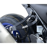 R&G Racing Exhaust Hanger (Single) Black for Suzuki SV650 Unfaired 16-18/SV650X 18-19