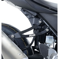 R&G Racing Exhaust Hanger w/Footrest Blanking Plate (Kit) Black for Suzuki SV650 16-18/SV650X 18-19