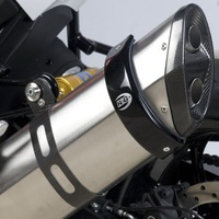 "R&G Racing 5.5""- 6.5"" Round Exhaust Protector Black for Benelli/BMW/Honda/Husqvarna/KTM/MZ/Suzuki/Triumph"