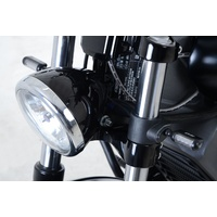 R&G Racing Front Indicator Adapter Kit Black for Indian Scout/Scout Sixty/Scout Bobber