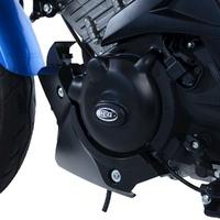 R&G Racing Engine Case Cover Kit (2 Piece) Black for Suzuki GSX-R125 17-19/GSX-S125 17-20