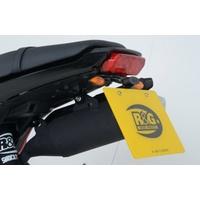 R&G Racing Tail Tidy License Plate Holder (Micro Indicators) Black for Honda MSX125 (GROM 125) 13-15