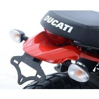 R&G Racing Tail Tidy License Plate Holder Black for Ducati Scrambler Icon 15-20/Scrambler Street Classic 18-20/Scrambler Urban Enduro 15-17