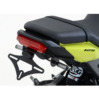 R&G Racing Tail Tidy License Plate Holder Black (Micro Indicators) for Honda MSX125 (GROM 125) 16-20