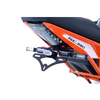 R&G Racing Tail Tidy License Plate Holder Black for KTM RC 125/RC 200 14-16/KTM RC 390 14-18