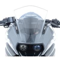 R&G Racing Mirror Blanking Plates Black for KTM RC 125 14-16/RC 200 14-16/RC 390 14-18
