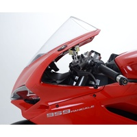 R&G Racing Mirror Blanking Plates Black for Ducati 1299 Panigale 15-19/Ducati 959 Panigale 16-19