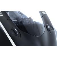 R&G Racing Mirror Blanking Plates Black for Yamaha YZF-R6 17-20