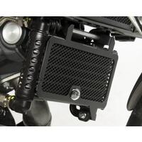 R&G Racing Oil Cooler Guard Black for Aprilia Dorsoduro 1200 11-Up